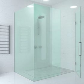 דוגמא אחת מאינספור דוגמאות ליישום של דפנות קבועות במקלחת
